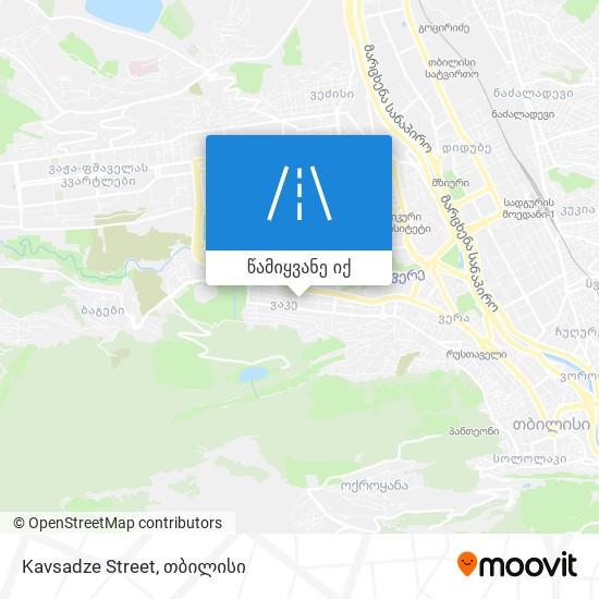 Kavsadze Street რუკა