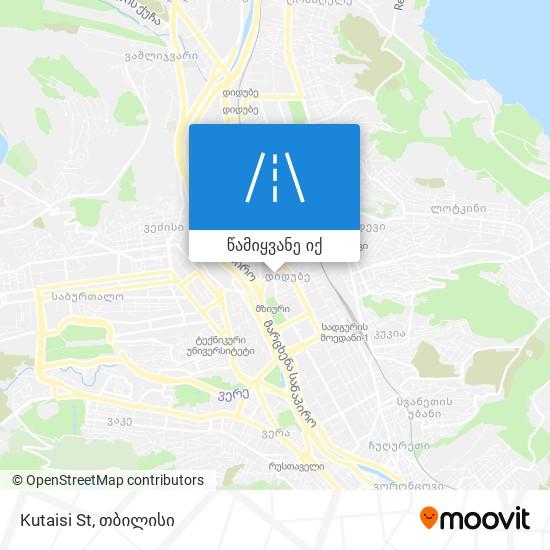 Kutaisi St რუკა