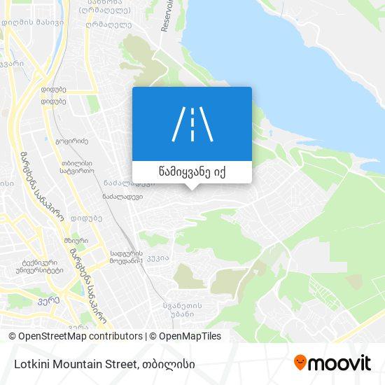 Lotkini Mountain Street რუკა