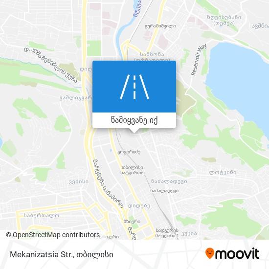 Mekanizatsia Str. რუკა