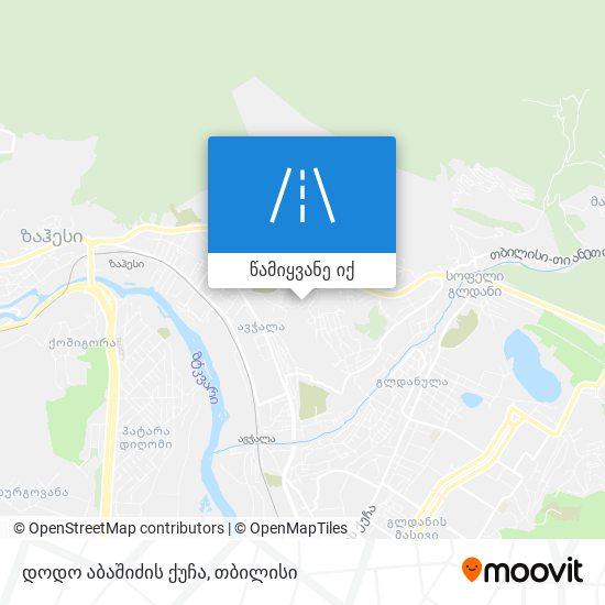 დოდო აბაშიძის ქუჩა რუკა