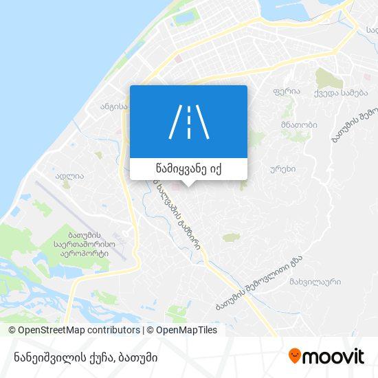 ნანეიშვილის ქუჩა რუკა