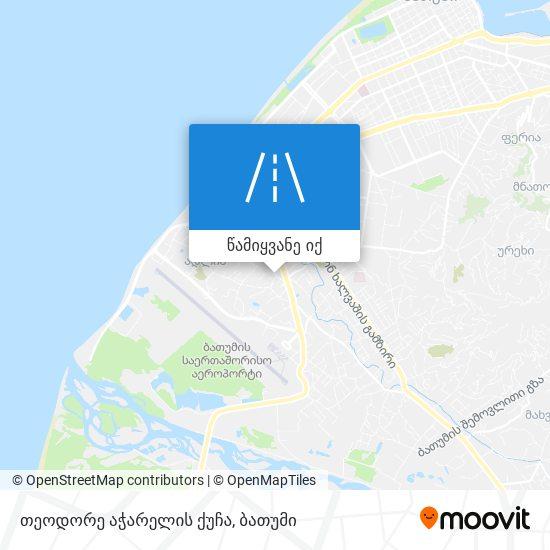 თეოდორე აჭარელის ქუჩა რუკა