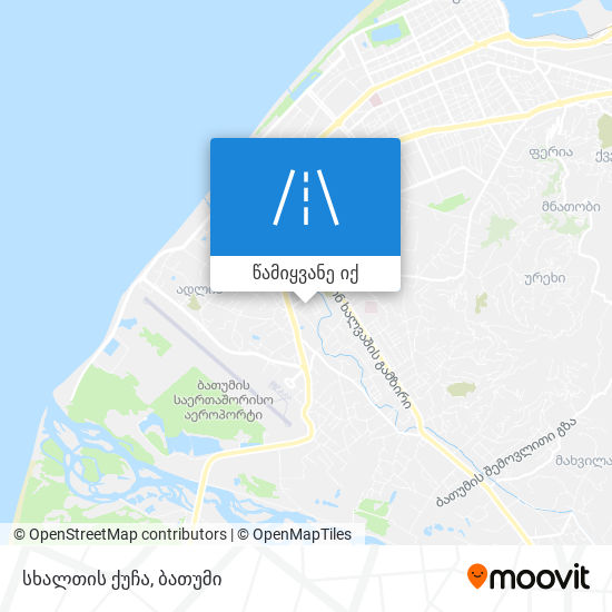 სხალთის ქუჩა რუკა