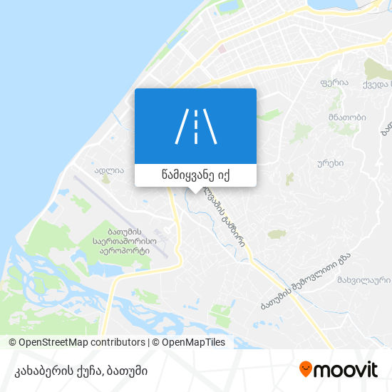 კახაბერის ქუჩა რუკა