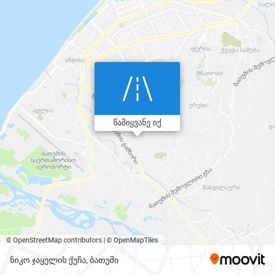 ნიკო ჯაყელის ქუჩა რუკა