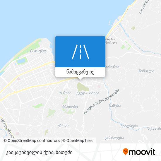 კაიკაციშვილის ქუჩა რუკა