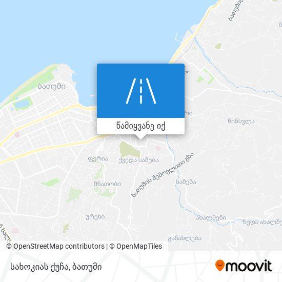 სახოკიას ქუჩა რუკა