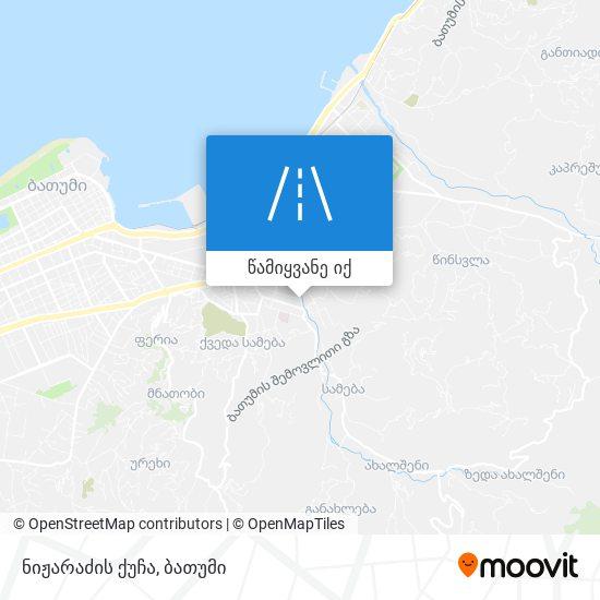 ნიჟარაძის ქუჩა რუკა