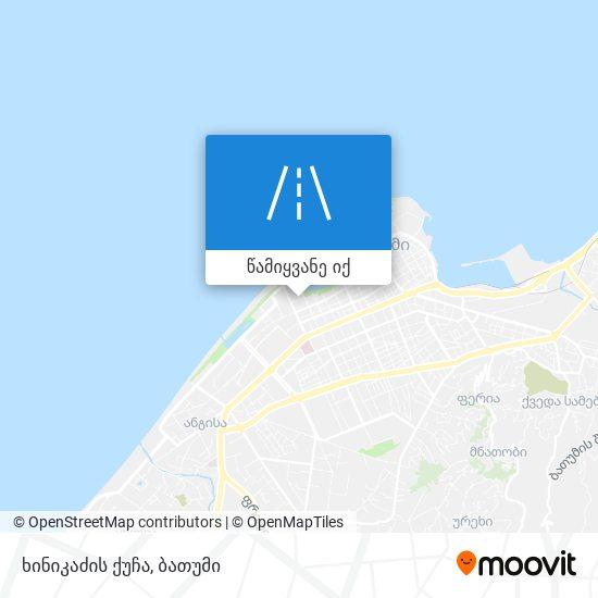 ხინიკაძის ქუჩა რუკა