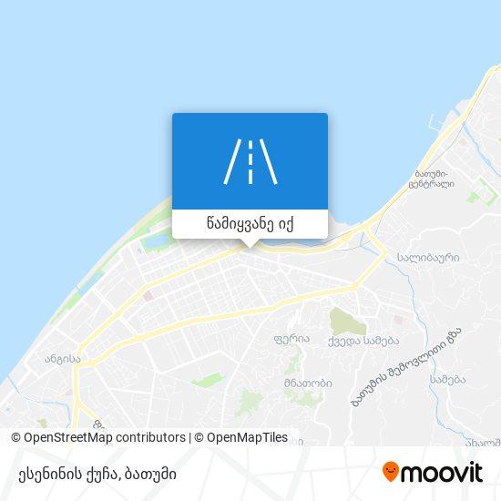 ესენინის ქუჩა რუკა
