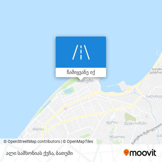 ალი სამსონიას ქუჩა რუკა