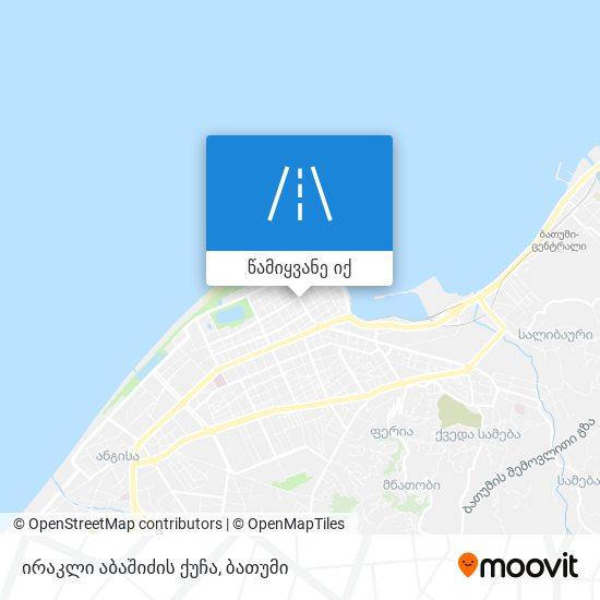 ირაკლი აბაშიძის ქუჩა რუკა