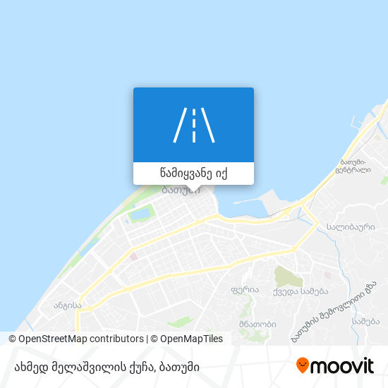 ახმედ მელაშვილის ქუჩა რუკა
