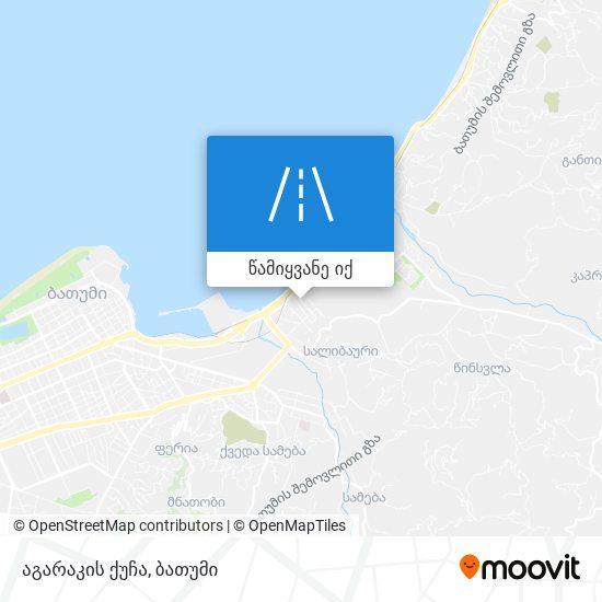 აგარაკის ქუჩა რუკა