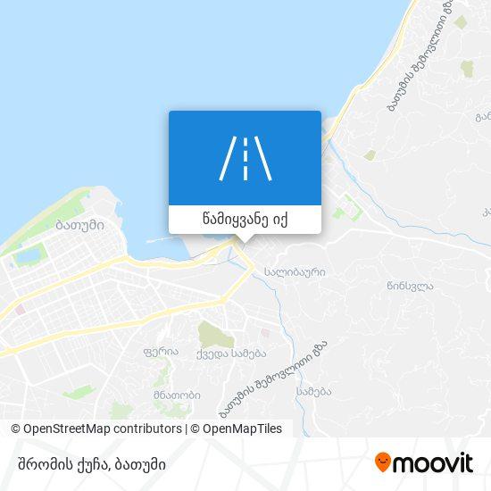 შრომის ქუჩა რუკა