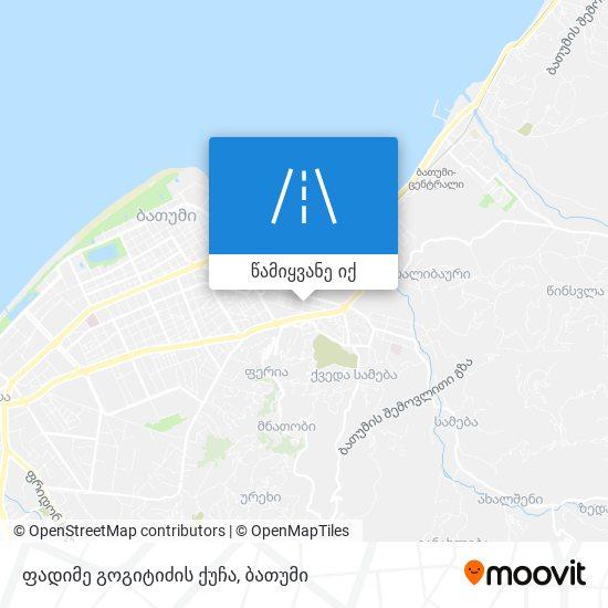 ფადიმე გოგიტიძის ქუჩა რუკა