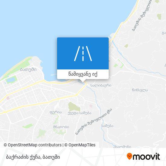 ბაქრაძის ქუჩა რუკა