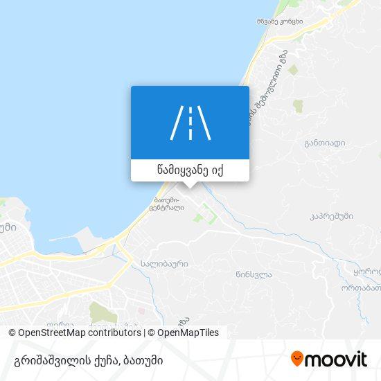 გრიშაშვილის ქუჩა რუკა