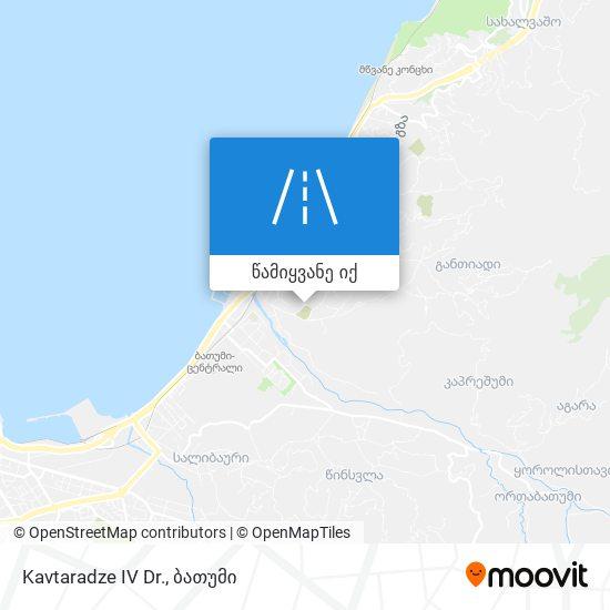 Kavtaradze IV Dr. რუკა