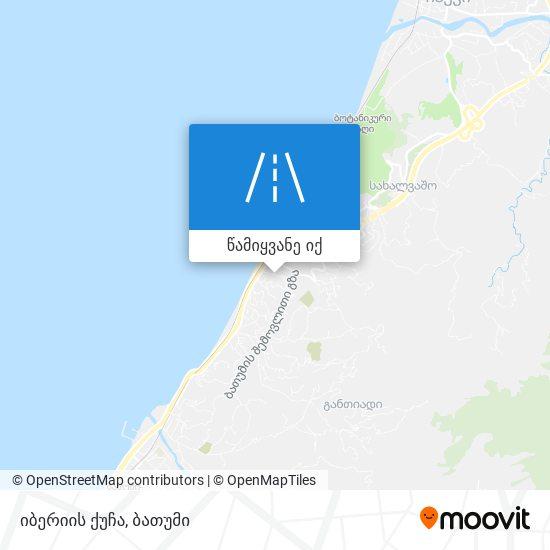 იბერიის ქუჩა რუკა