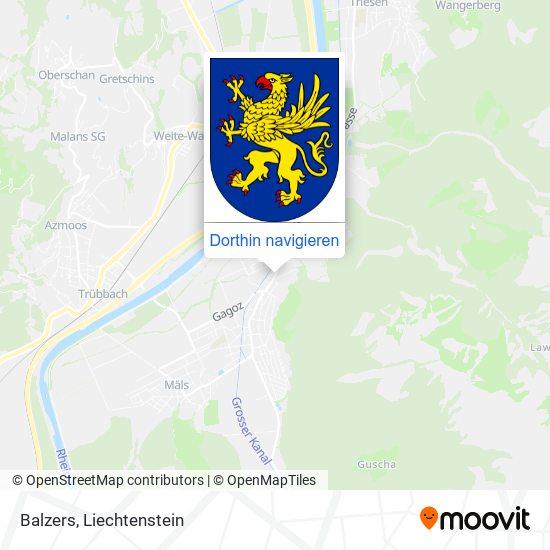 Balzers Karte