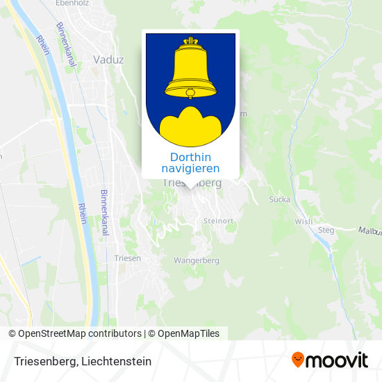 Triesenberg Karte