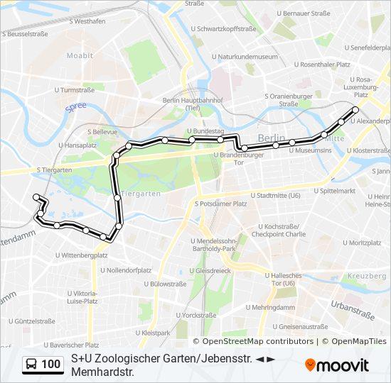 Linie 100 Fahrpläne Haltestelle Karten Su Alexanderplatz Bhf