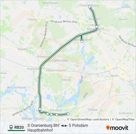 Berlin Potsdam Karte.Linie Rb20 Fahrpläne Haltestelle Karten S Oranienburg Bhf