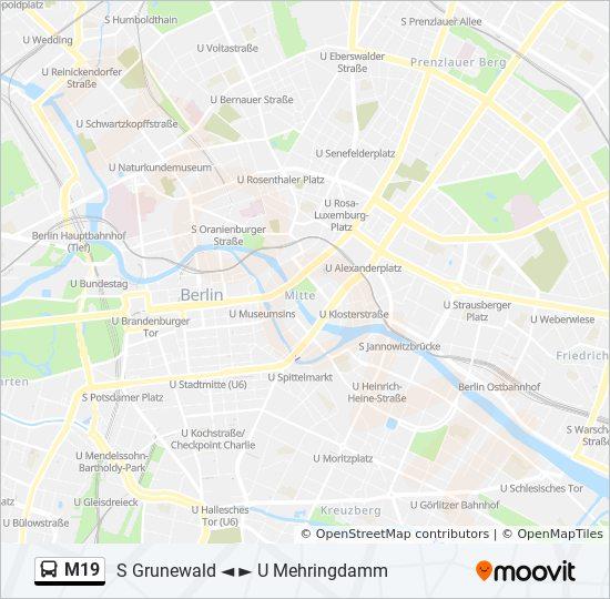Linie M19 Fahrpläne Haltestelle Karten Grunewald Hagenplatz