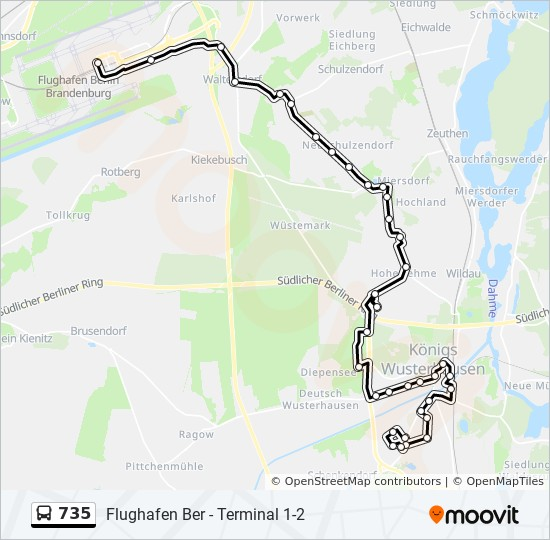 735 Route Time Schedules Stops Maps S Königs Wusterhausen Bhf