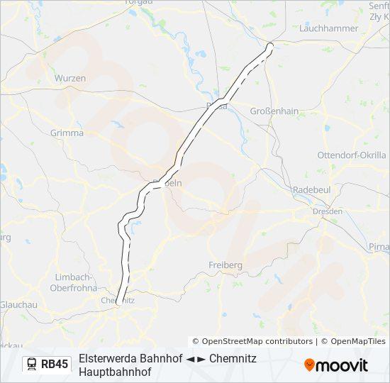 Chemnitz Karte.Linie Rb45 Fahrplane Haltestelle Karten Chemnitz