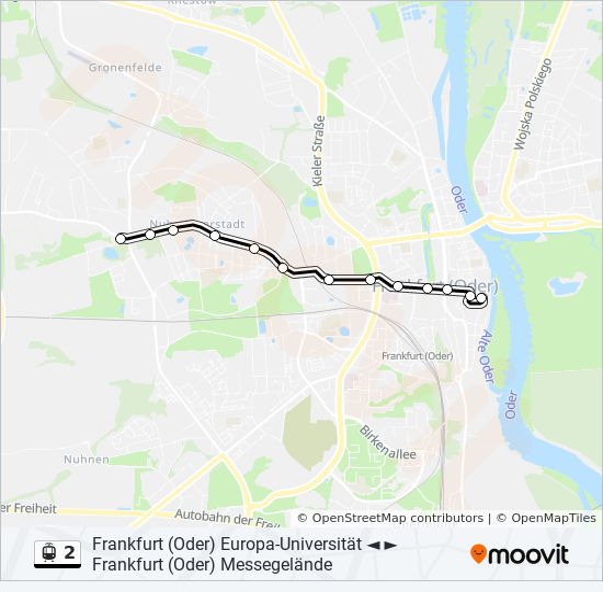 Frankfurt Karte Europa.Linie 2 Fahrpläne Haltestelle Karten Frankfurt Oder Messegelände