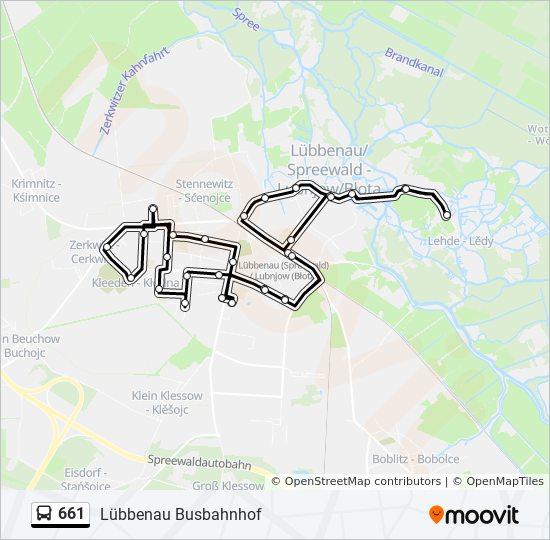 Karte Spreewald Lubbenau.Linie 661 Fahrplane Haltestelle Karten Lubbenau Busbahnhof