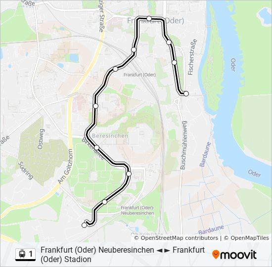Linie 1 Fahrplane Haltestelle Karten Frankfurt Oder