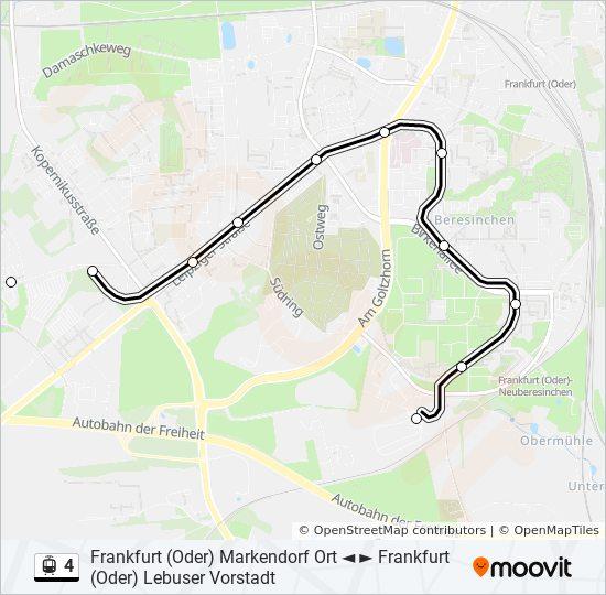 Linie 4 Fahrplane Haltestellen Karten Frankfurt Oder