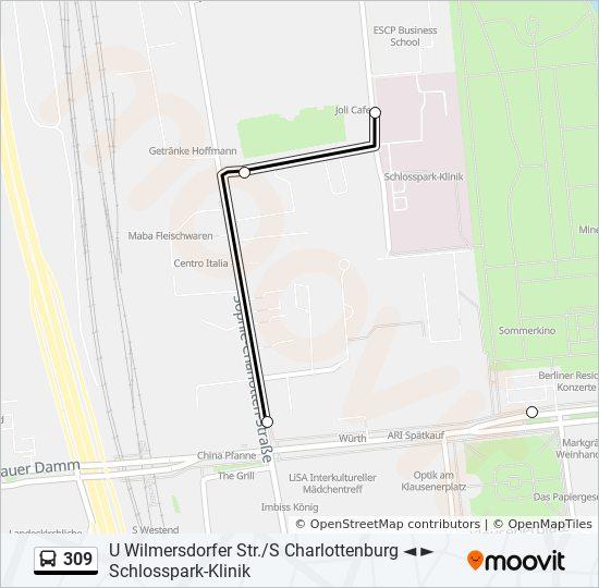 Linie 309 Fahrpläne Haltestelle Karten Schlosspark Klinik