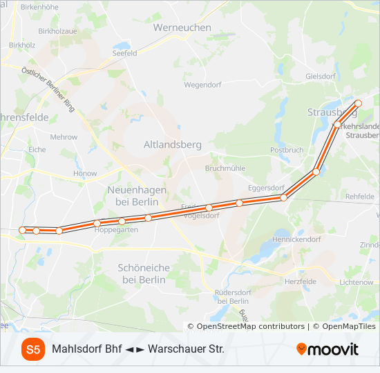 S5 Route Time Schedules Stops Maps Westkreuz - Berlin-us-bahn-map