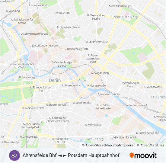 Berlin Potsdam Karte.Linie S7 Fahrpläne Haltestelle Karten Potsdam Hauptbahnhof