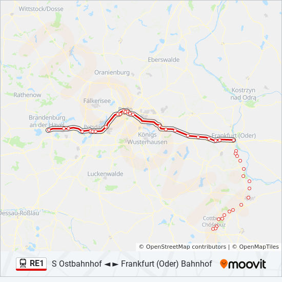 Re1 Route Time Schedules Stops Maps Magdeburg Hauptbahnhof