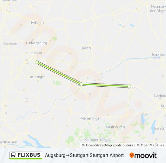 Karte Augsburg.Linie Flixbus Fahrplane Haltestelle Karten Augsburg