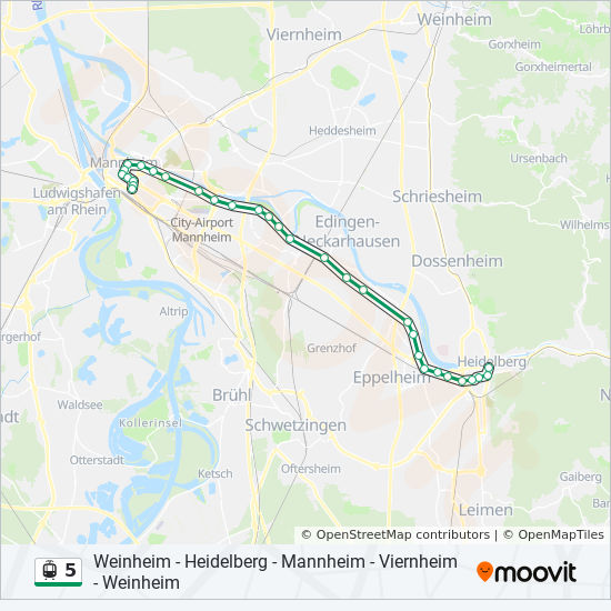 Map Of Viernheim Germany.5 Route Time Schedules Stops Maps Weinheim Heidelberg