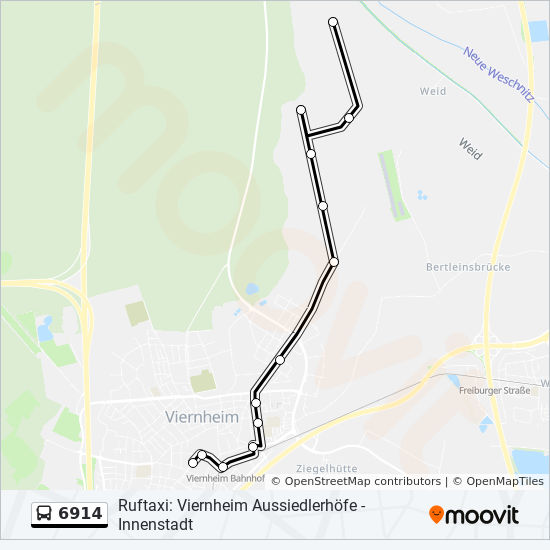 Map Of Viernheim Germany.6914 Route Time Schedules Stops Maps Aussiedlerhof Blaess