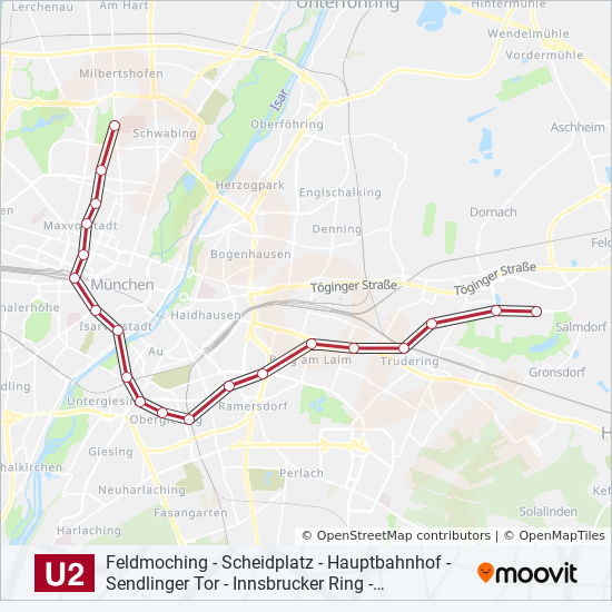 U2 Route Time Schedules Stops Maps Feldmoching
