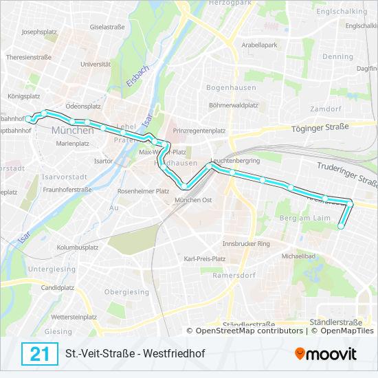 Linie 21 Fahrpläne Haltestelle Karten Karlsplatz Stachus