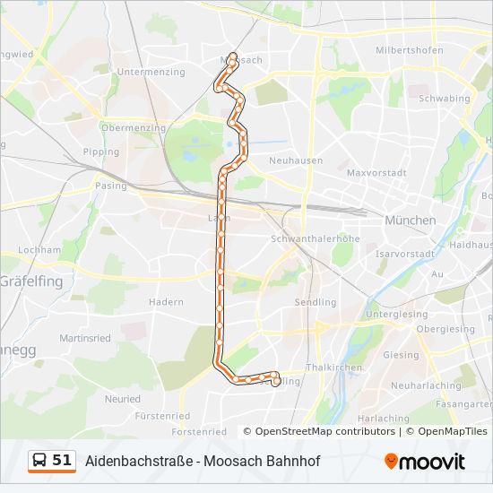 Linie 51 Fahrpläne Haltestelle Karten Aidenbachstraße