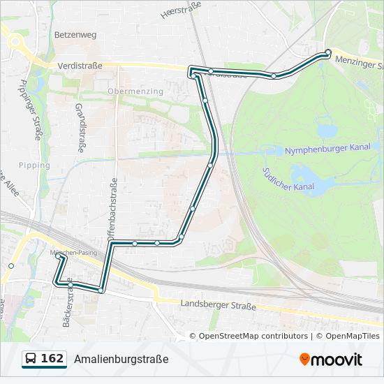 Mvv Zonen Karte.Linie 162 Fahrplane Haltestelle Karten Amalienburgstrasse