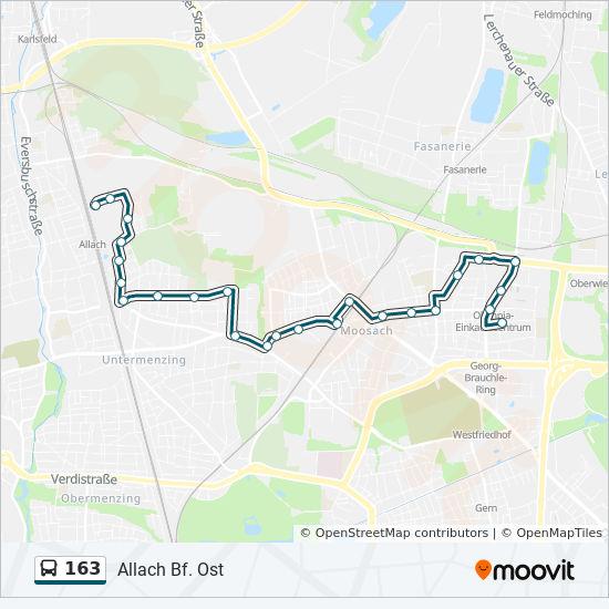 Linie 163 Fahrpläne Haltestelle Karten Allach Bf Ost