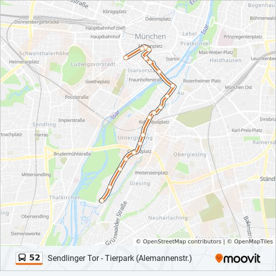 Linie 52 Fahrpläne Haltestelle Karten Sendlinger Tor
