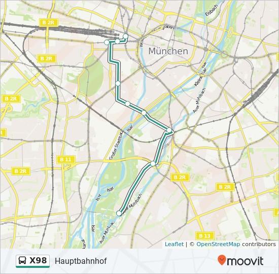 Linie X98 Fahrpläne Haltestelle Karten Hauptbahnhof